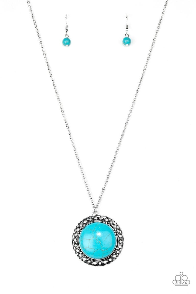 Run Out Of RODEO Blue Necklace
