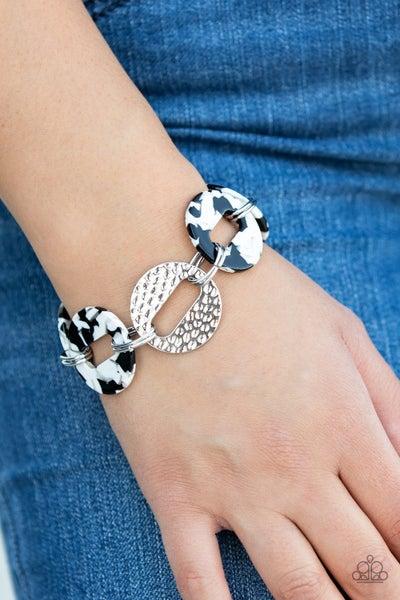 Retro Recharge White Bracelet