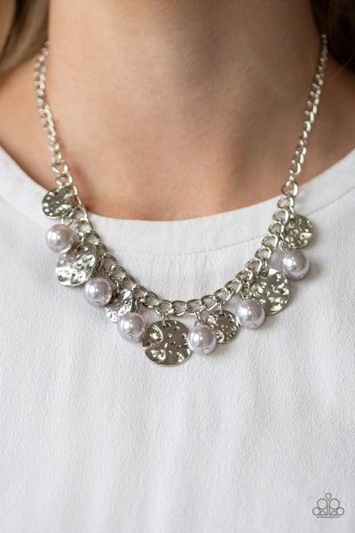 Seaside Sophistication Silver Pearl Neclace
