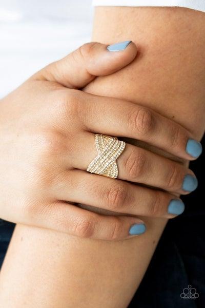 Girl Boss Glitter Gold Ring
