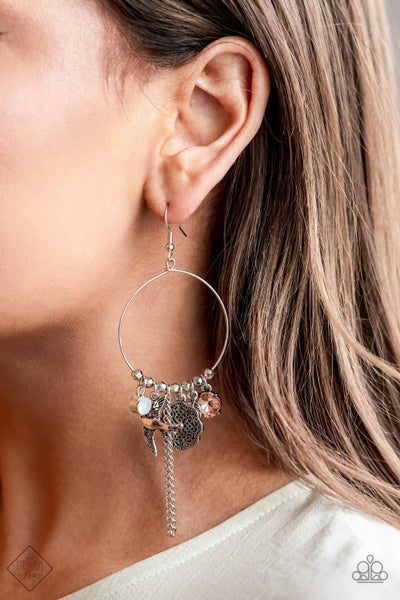 TWEET Dreams White Earring - Sparkle with Suzanna