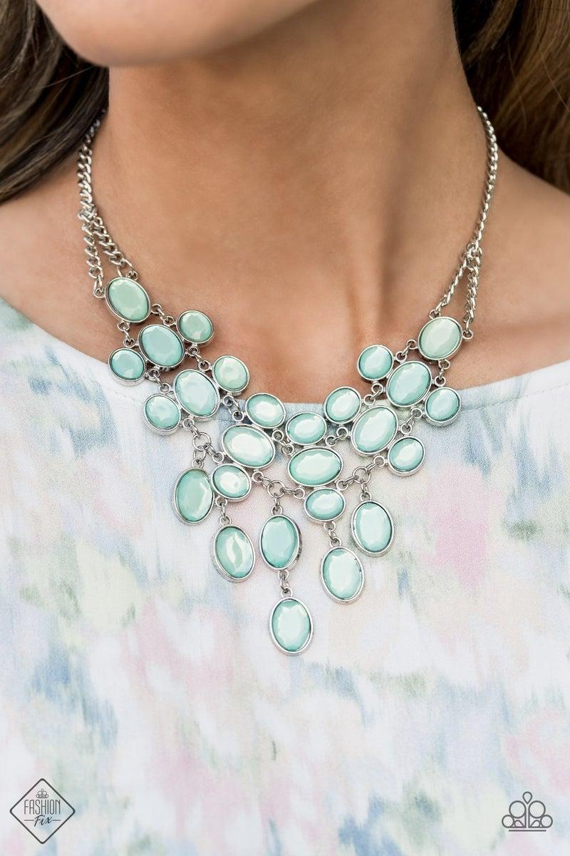 Serene Gleam Blue Necklace