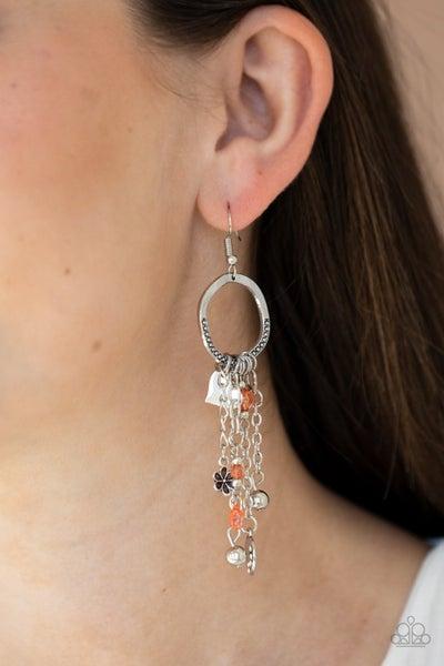 Charm School Orange Earring