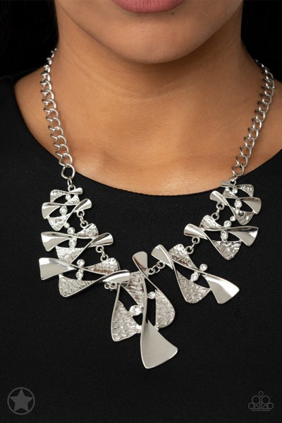 The Sands of Time - Silver Necklace & Earrings - Sparkle with Suzanna