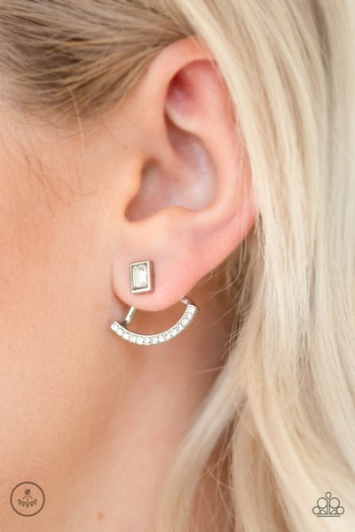 Delicate Arches White Post Earring