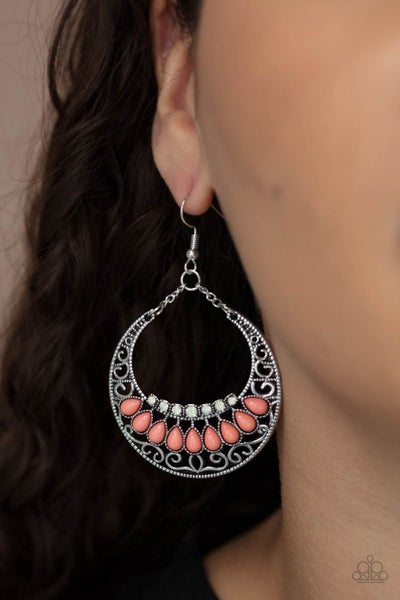 Crescent Couture Orange Earring