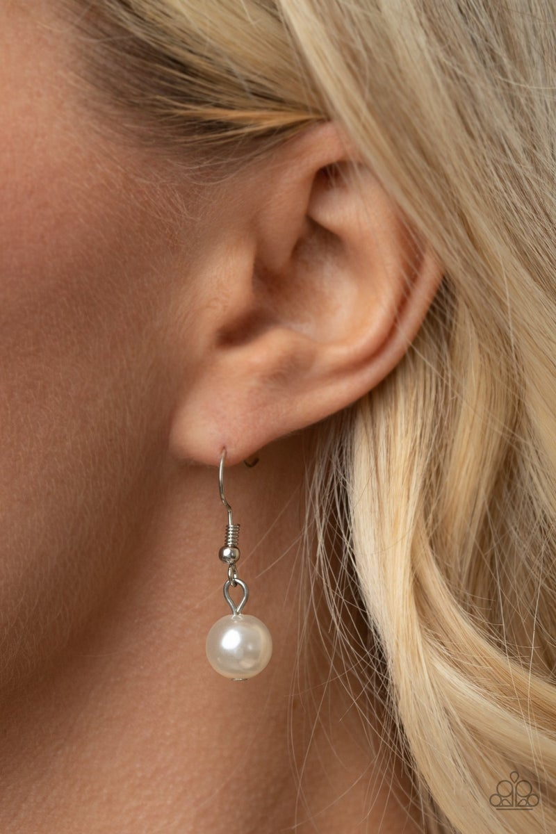 GLEAM Work  White Pearl Lanyard