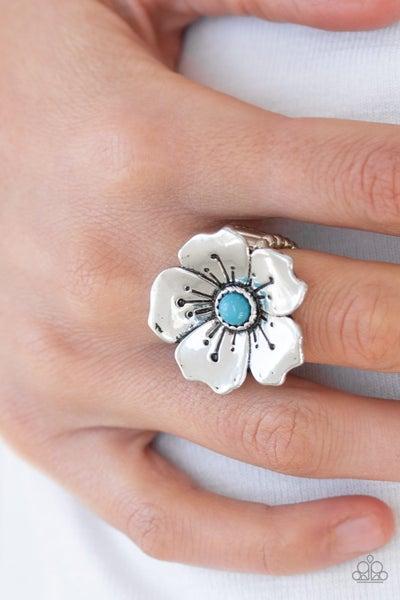 Boho Blossom Blue Ring