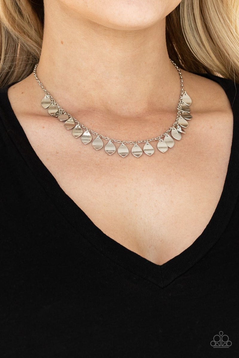 Dainty DISCovery Silver Necklace
