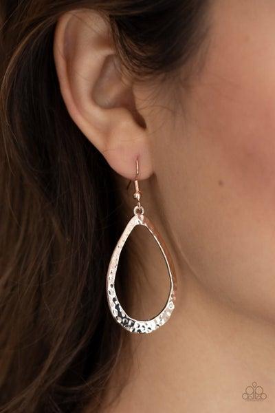 Bevel headed Brilliance Rose Gold Earring