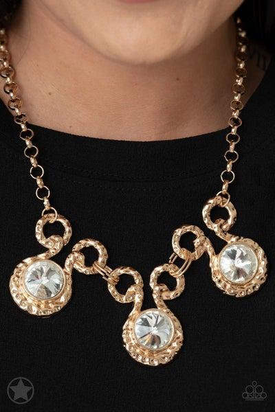 Hypnotized Gold Blockbuster Necklace