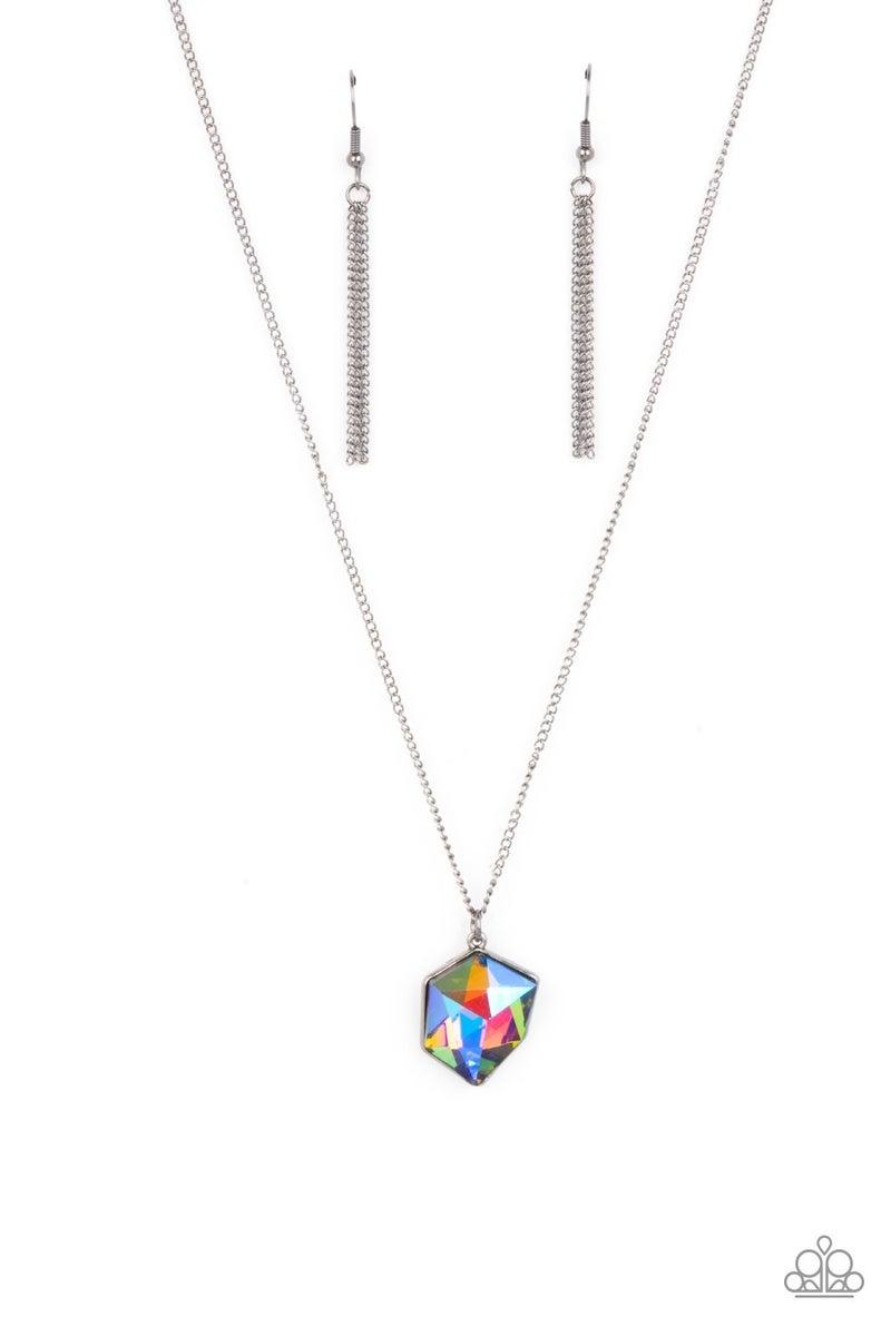 Stellar Serenity - Multi Oil Spill Necklace