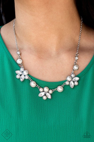 Royally Ever After White Necklace - Fashion Fix