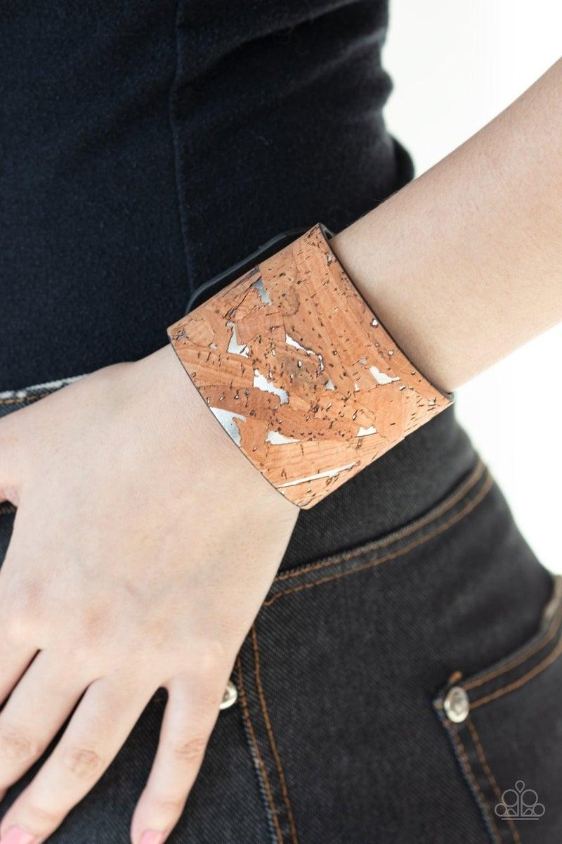 Cork Congo Silver Bracelet - Sparkle with Suzanna