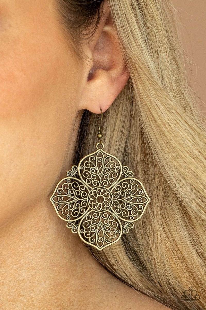 Dubai Detour Brass Earrings