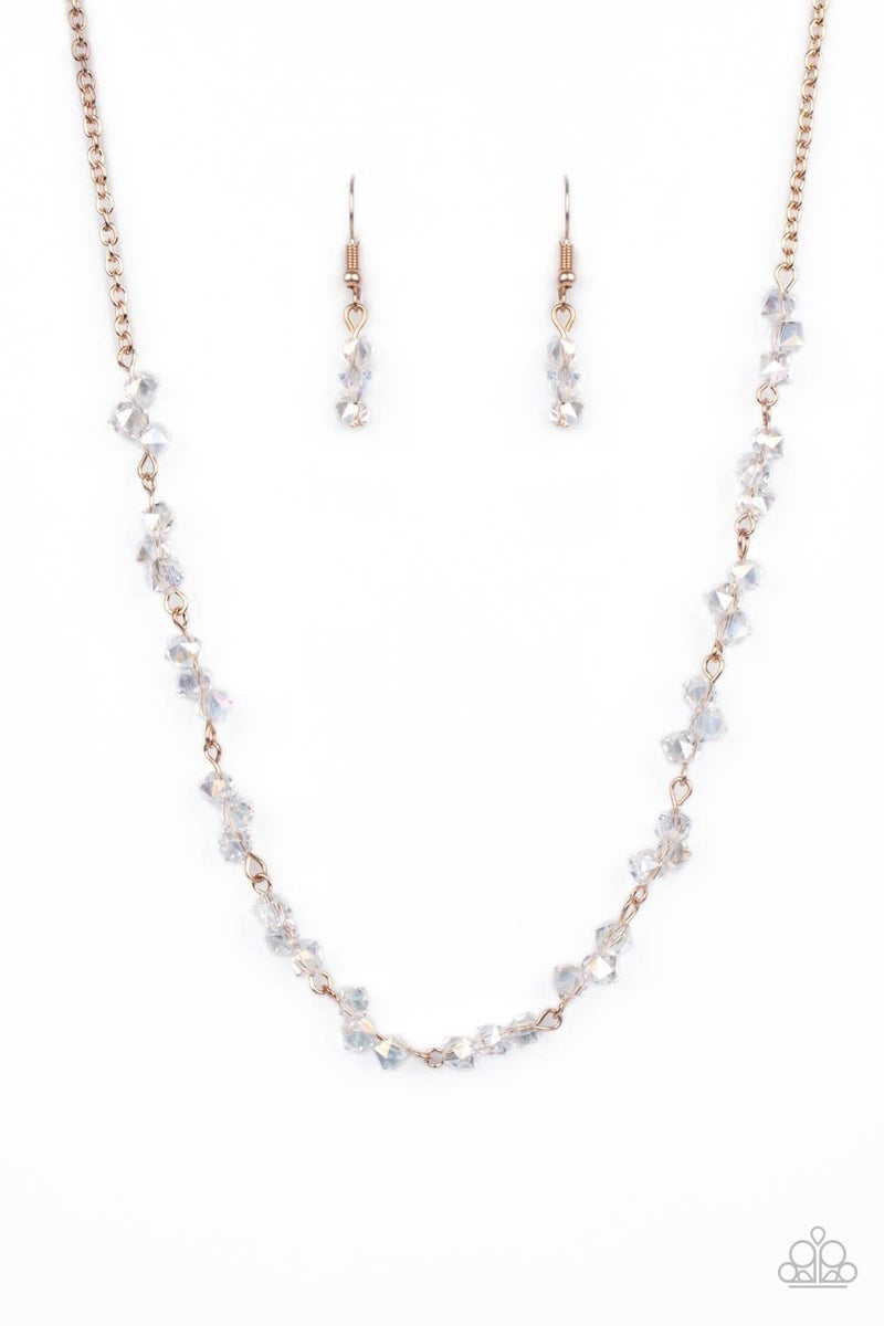 Incredibly Iridescent Rose Gold Necklace