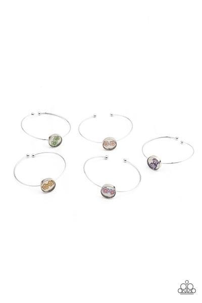 Starlet Shimmer Floral Cuff Bracelets 5 Pack