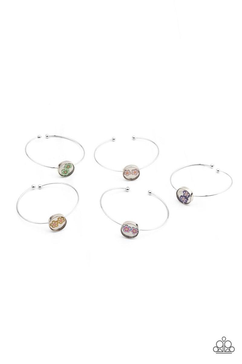 Starlet Shimmer Floral Cuff Bracelets 5 Pack - PREORDER