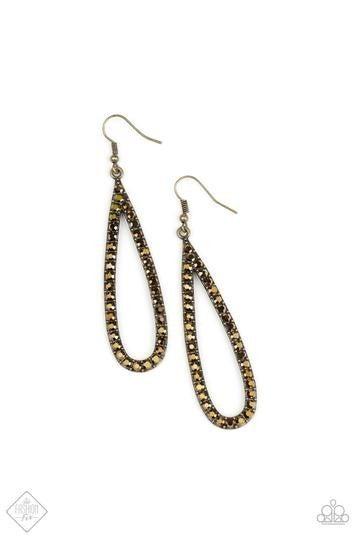 Glitzy Goals Brass Earring