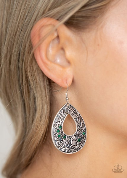 Botanical Butterfly Green Earring - Sparkle with Suzanna