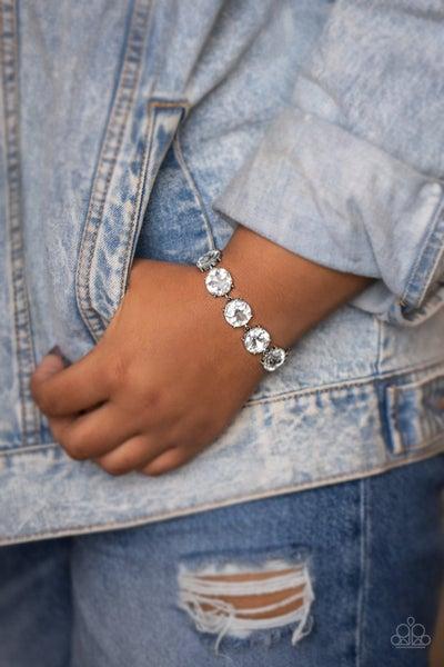 Fabulously Flashy White Bracelet