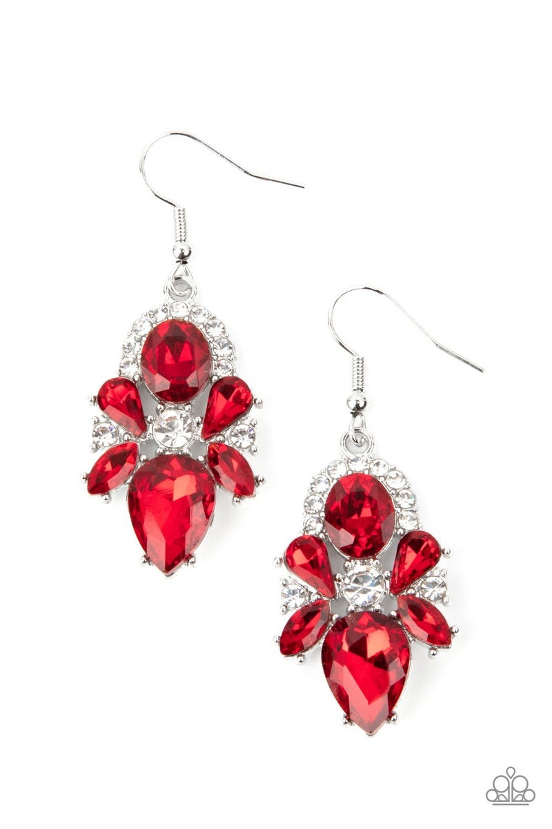 Stunning Starlet Red Earrings - PREORDER