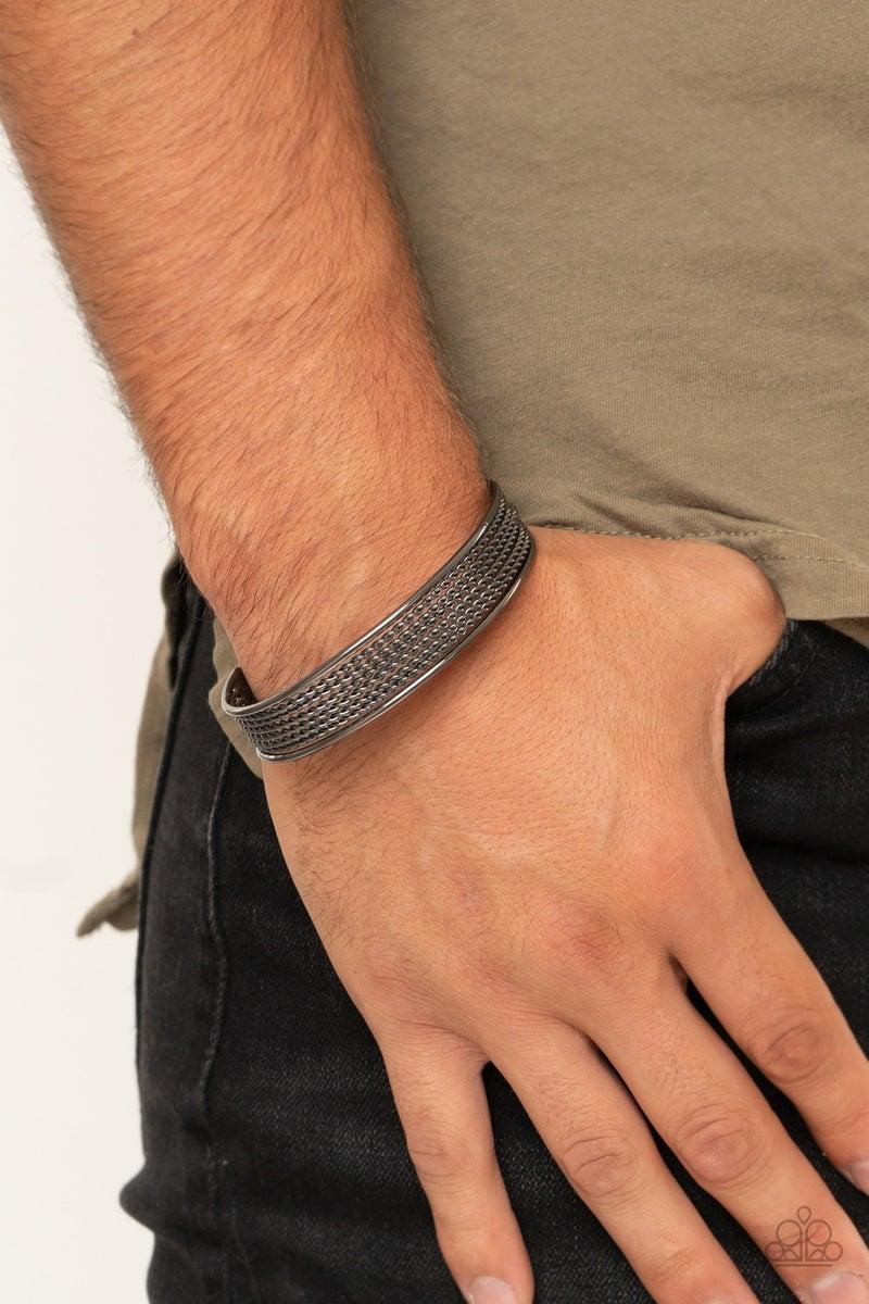 Risk Taking Texture Black Bracelet