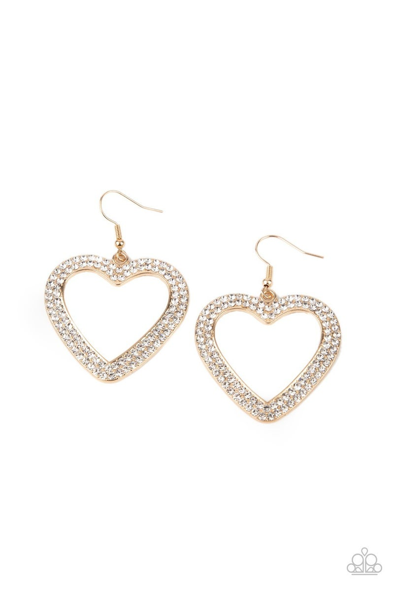 Glisten to Your Heart Gold Earring