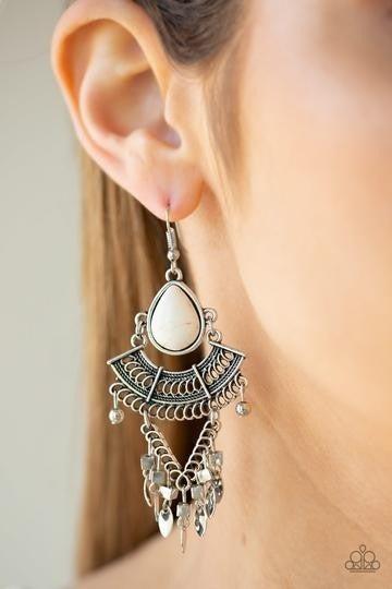 Vintage Vagabond White Earring