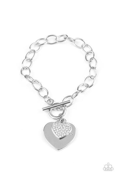 Heartbeat Bedazzle - Silver