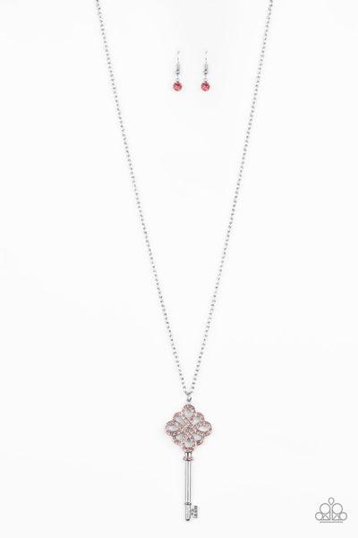 Unlocked Pink - Necklace (LOP)