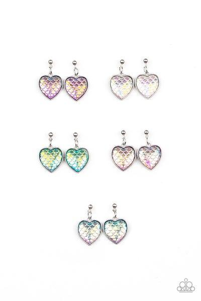 Starlet Shimmer - Mermaid Heart Earrings