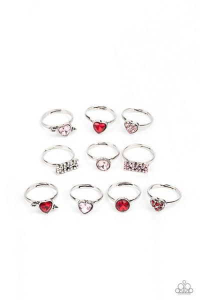 Starlet Shimmer - Bling Valentine Rings