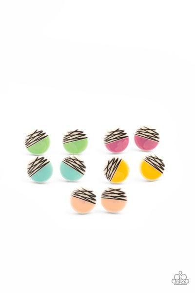 Starlet Shimmer - Half Stripe Earrings