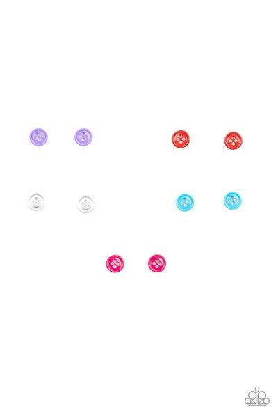 Starlet Shimmer - Button Earrings