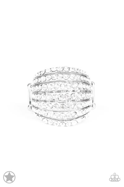 Blinding Brilliance White Blockerbuster Ring