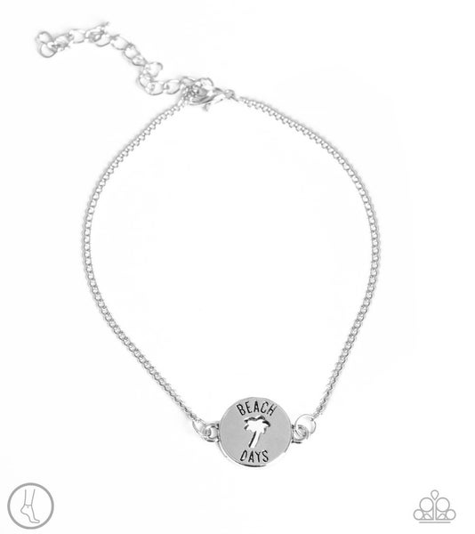 Summer Shade - Silver Anklet