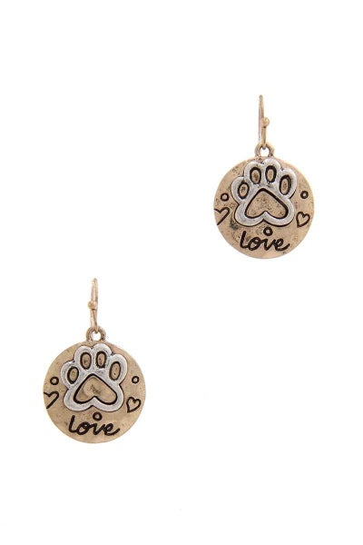 Puppy Paw Earrings *Final Sale*