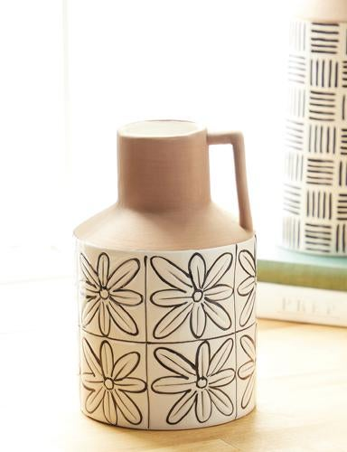TILE PATTERNED JUG