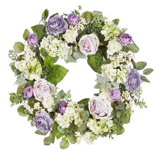 """24"""" Hydrangea and Peony Wreath"""