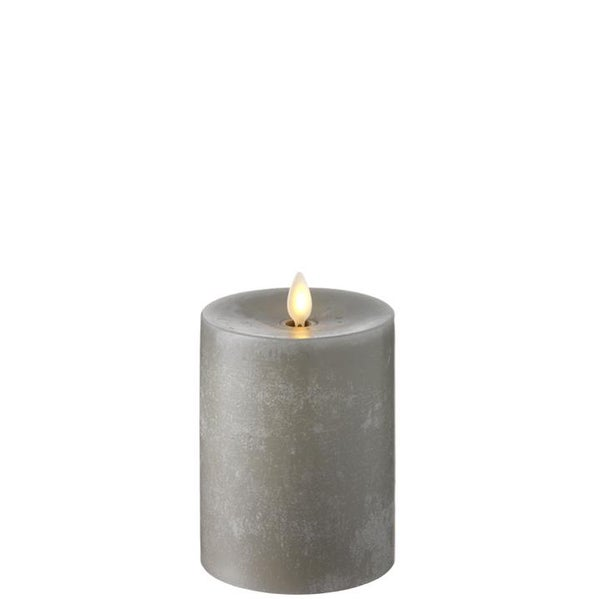 """5"""" Push Flameless Candle- Grey Chalky"""