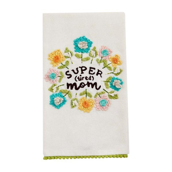 SUPER MOM FLORAL TOWEL