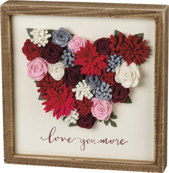 Inset Box Sign - Love You
