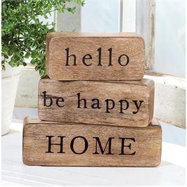 HELLO HAPPY HOME BLOCK SET