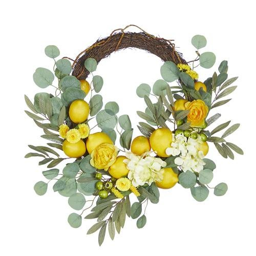 "23"" MIXED LEMON WREATH"