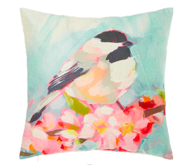 "18"" BRUSHSTROKE BIRD PILLOW"