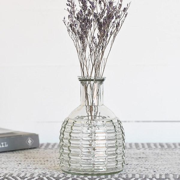 "4.25"" Clear Stripe Vase"