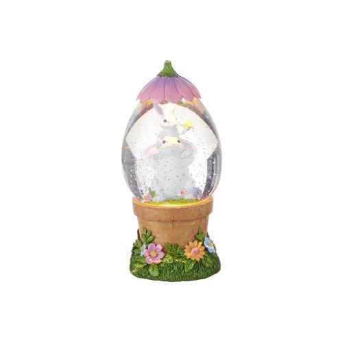 """9"""" Rabbit Lighted Water Flower Pot"""