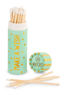 TEAL BIRTHDAY MATCHES TUBE