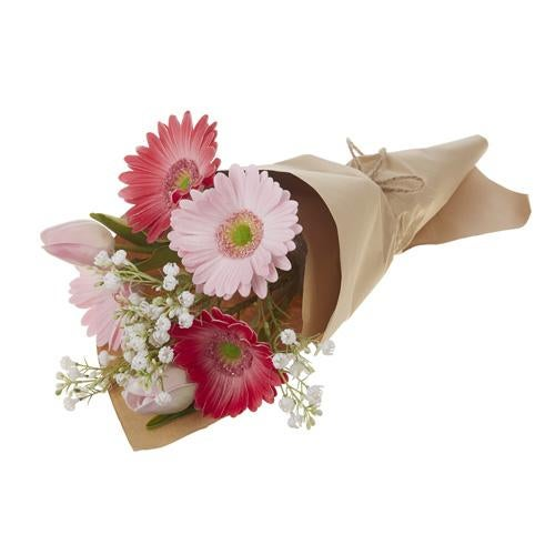"""19.5"""" DAISY BOUQUET WRAPPED IN PAPER"""